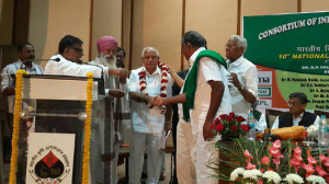 CIFA falicitated BSY today at Delhi for presenting separate Agricultural Budget during 2010-11 at Karnataka.