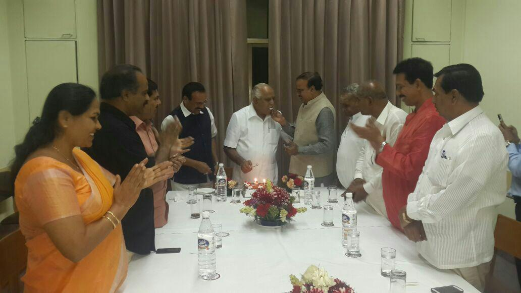 B.S Yeddyurappa thanks our state's Parliamentarians and Unionministers for making his birthday memorable