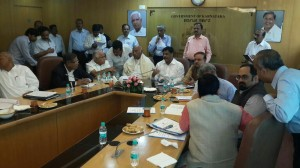 Today's Karnataka MPs meeting with our state's PWD minister Sri H C Mahadevappa