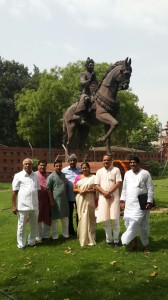 Basava Jayanthi Celebration in Front of the Parliament