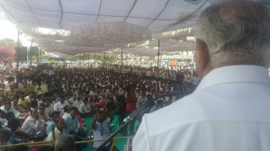 BSY at Koppala Protesting Against Yellalinga's Murder.