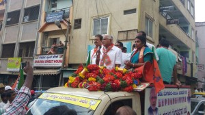 BSY at Campaing For BBMP Election