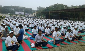 BSY in  Inaugural Function of YOGA DASARA at Shivamogga