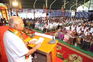 BSY Addressed Party's newly nominated Office Bearers and other Members today at State Executive Meeting