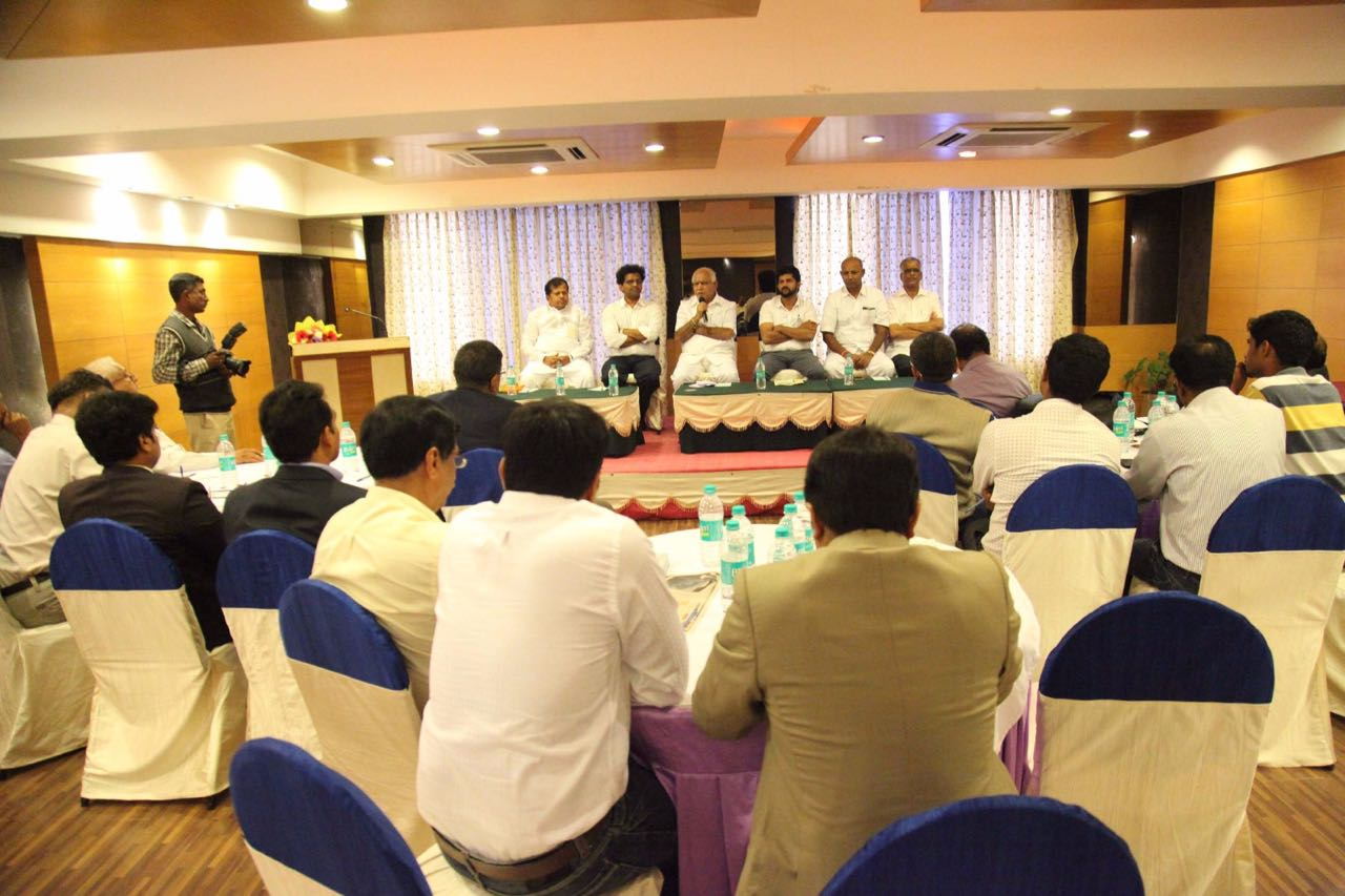 Sharing a picture of interactive session with Industrialists of Mysuru