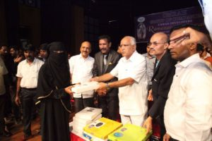 BSY at Ramazan function organized by Umrah Developers at Town Hall