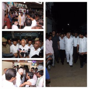 BSY met & consoled family members and relatives of the deceased yesterday who drowned in Tungabhadra river.
