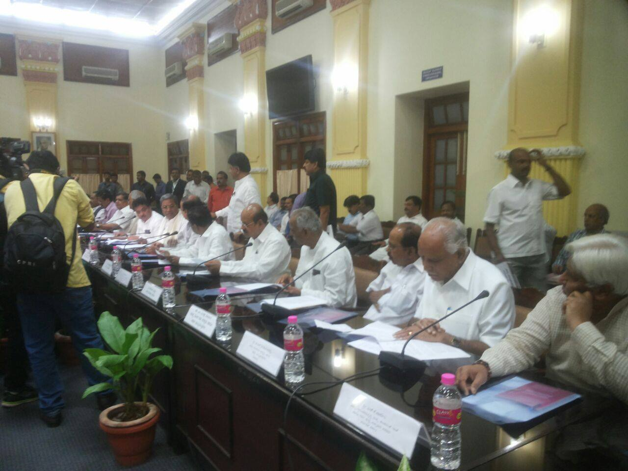 BSY Attended All Party Meeting held at Vidhana Soudha today regarding Cauvery Water dispute.