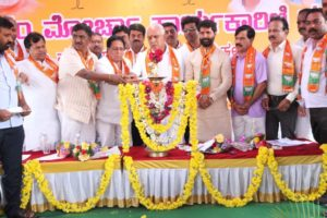 State President Sri. BS Yeddyurappa ji inaugurated State Executive meeting of Slum morcha today in mysore.