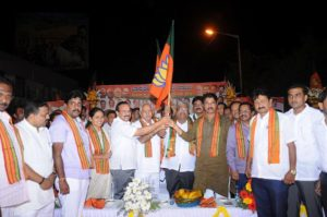 Former Opposition leader at BBMP Sh.Nagaraj (Cong) joined BJP with his thousands of supporters yesterday at Bengaluru,welcomed him warmly