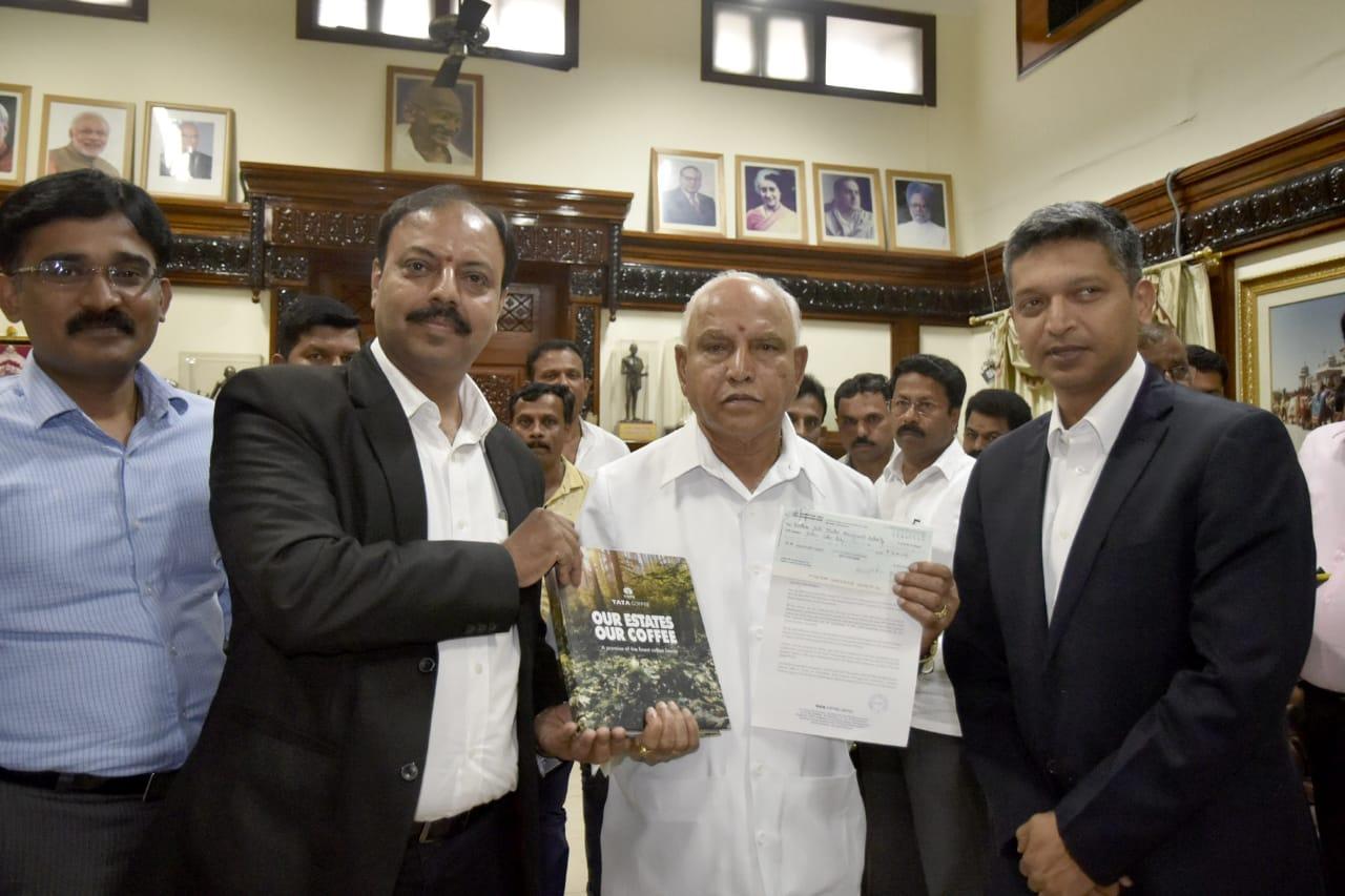 ಸಿಎಂ ಪರಿಹಾರ ನಿಧಿಗೆ ಟಾಟಾ ಕಾಫಿ ಲಿಮಿಟೆಡ್ ಸಂಸ್ಥೆಯ ವತಿಯಿಂದ 16 ಲಕ್ಷ ದೇಣಿಗೆ