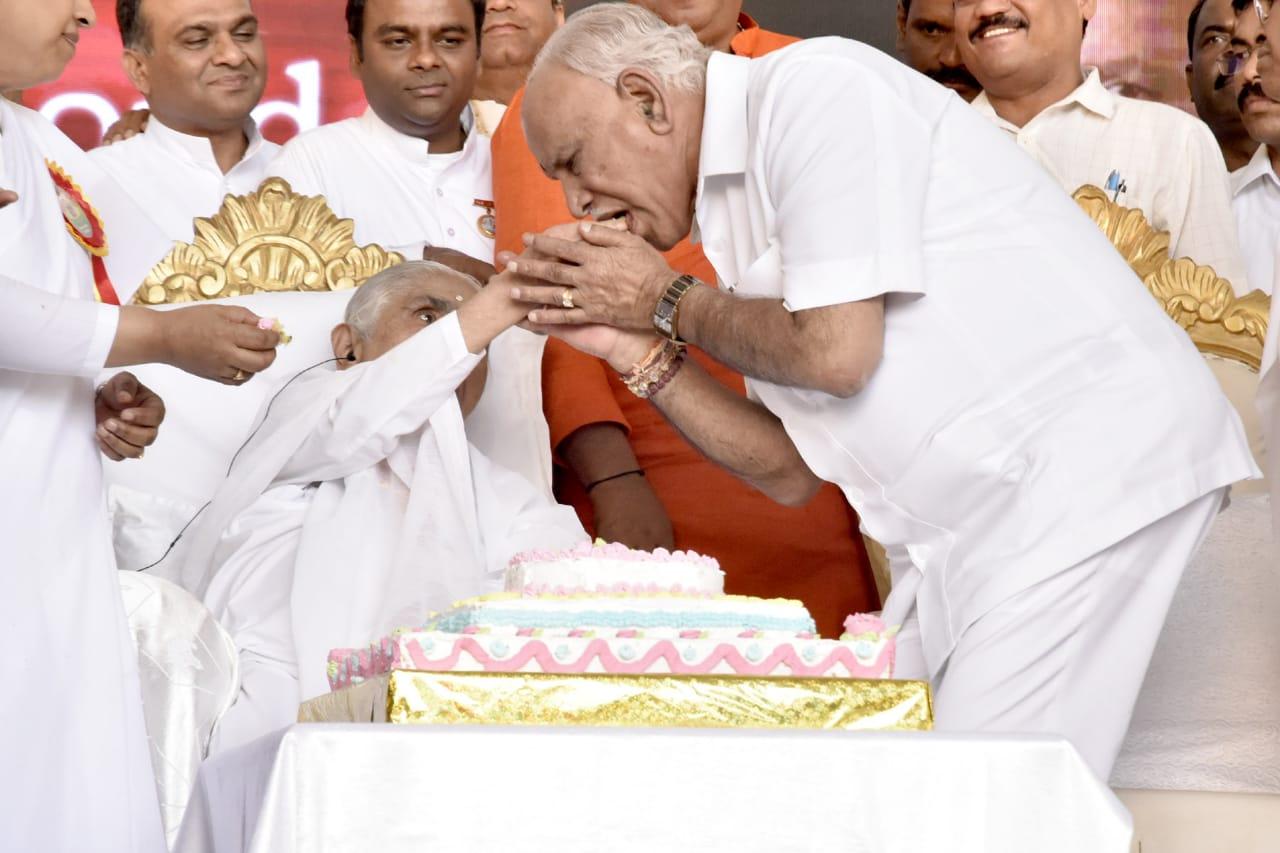 ದಾದಿ ಜಾನಕಿ ಅವರ 104ನೇ ಜನ್ಮದಿನಾಚಾರಣೆ ಕಾರ್ಯಕ್ರಮದಲ್ಲಿ ಭಾಗವಹಿಸಿದ ಸಿಎಂ